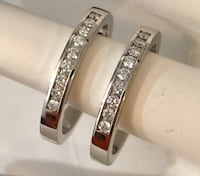 14k white gold 2 diamond eternity wedding rings * Compare at $2,400+ Vaughan, L4J