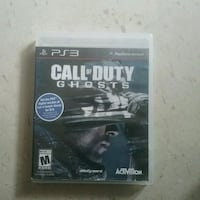 PS3 game Call of duty Ghost Winnipeg, R3B 2S6