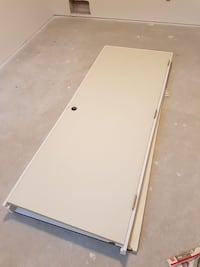 white wooden door frame