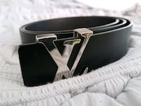 black and silver buckle belt Coquitlam, V3E 2W8