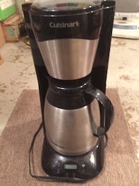 Cuisinart coffee maker with stainless steel thermal carafe.