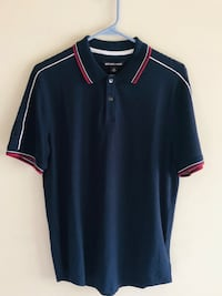 MENS MICHAEL KORS S/S POLO SHIRT~Blue W/ Red Pin Stripe ~SZ MED Cockeysville, 21030