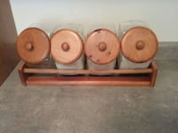 Wooden kitchen canisters  Oakville, Ontario, L6M 4R8