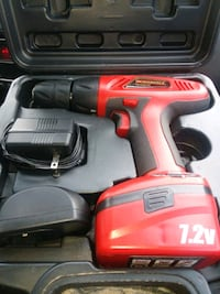 Cordless drill with attachments