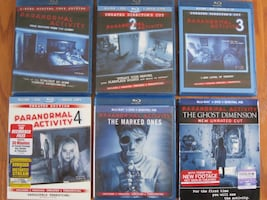 Paranormal Activity 1-6 Bluray Set (12 Discs Total)
