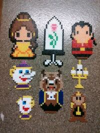 Perler bead's beauty and the beast characters Las Vegas, 89104