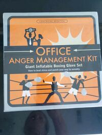 "2 NIB Office Anger Management Kits / ""Boxing Gloves"""