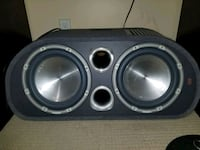 black and gray subwoofer speaker Surrey, V3S 0S3