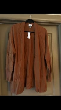 Mustard brown open front sweater, Old Navy