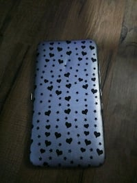 white and black polka dot hard womam wallet Palm Bay