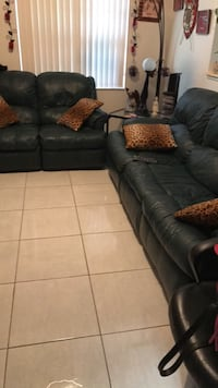 black leather 3-seat sofa and loveseat Kissimmee