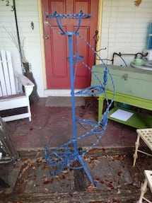 Vintage Wrought Iron Spiral Staircase Plant Stand