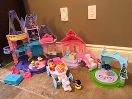 Fisher price princess songs palace,Garden tea party & coach