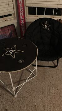 black moon chair and folding table Murfreesboro
