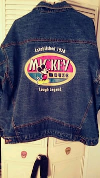 Official Mickey mouse laugh legend Jean jacket Saugus, 01906