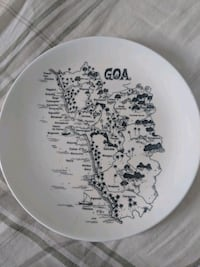 Goa map ceramic plate to hang on wall Mississauga, L5C 1H1