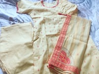 Traditional dress complete stitched new with motif shawl