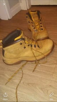 pair of brown leather work boots Edmonton, T5A