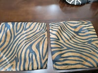 Set of 2 brown leather pillow cases 761 mi