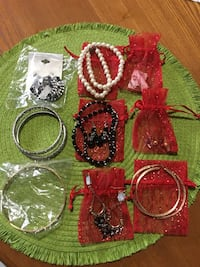 three assorted color beaded necklaces Brownsville, 78520