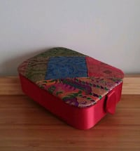 Decorative Embroidered Red Satin Jewelry Case  Gaithersburg