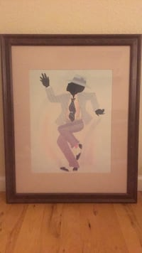 Dancing Man - Glass/Wood Frame (Free Delivery in Denver Metro Area) Aurora, 80013