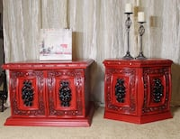 Beautiful red vintage side tables  Edmonton, T5E 1R4