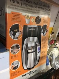 gray Hamilton Beach coffeemaker box