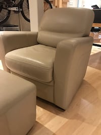 Leather chair and ottoman Markham, L6E 1E7