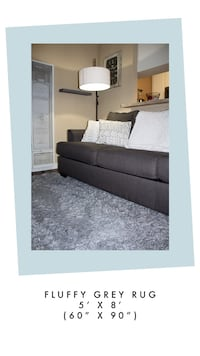 5 x 7 Fluffy Grey Rug Hawthorne, 90250