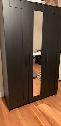 Black wooden wardrobe with mirror Chevy Chase, 20815