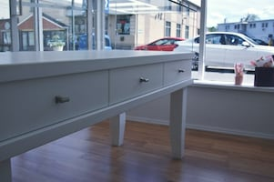Glass Display Table With Drawers Perfect For Retail Store Hand Made