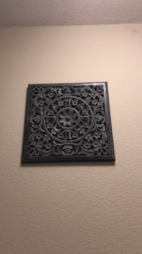black and gray floral wall decor Fremont, 94536