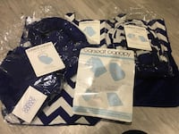 Original from car seat canopy Navy blue and white chevron Toronto, M6H 3T6