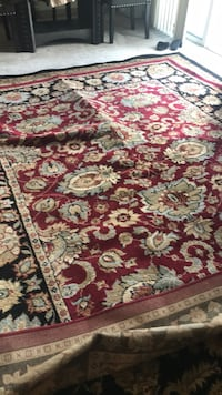 red, white, and brown floral area rug Alexandria, 22304