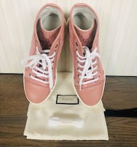 Gucci High Top Canvas Sneakers