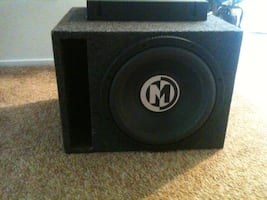 15 inch subwoofer and 1200 watt amp