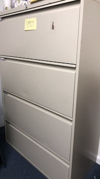 4 drawer locking lateral  file cabinet