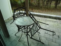 3 Piece Outdoor Bistro Set Bar Height LAUREL