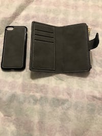 iPhone 7 wallet case & temporary glass