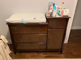 Baby crib and changing table (solid wood)