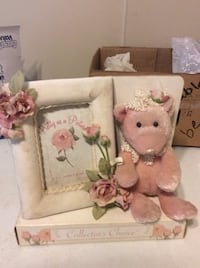 two white and pink bear plush toys Barrie, L4M 6X6