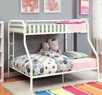 New twin over full white metal bunk bed Los Angeles, 90033