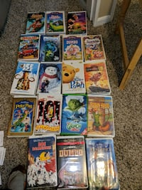 LOT OF 18 Walt Disney VHS Movies ALL Different
