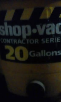 Used 20 gallon contractor series shop vac.