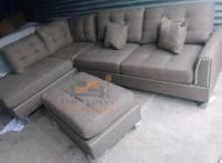 Brand New Coffee Color Linen Sectional +Ottoman  Silver Spring, 20902