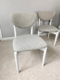 Grey and White Upholstered Dining Chairs Chesapeake, 23320