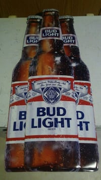 BUDWEISER BUD LIGHT METAL BEER SIGN