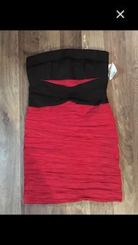 women's black and red sleeveless dress Regina, S4R 4C4
