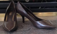 Brand New! RINALDI Classic Brown Leather Pumps BURNABY